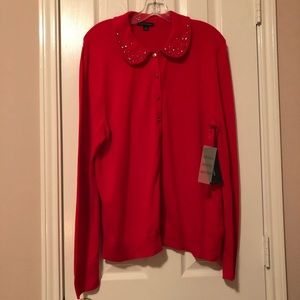 Tommy Hilfiger Rhinestones Red Sweater